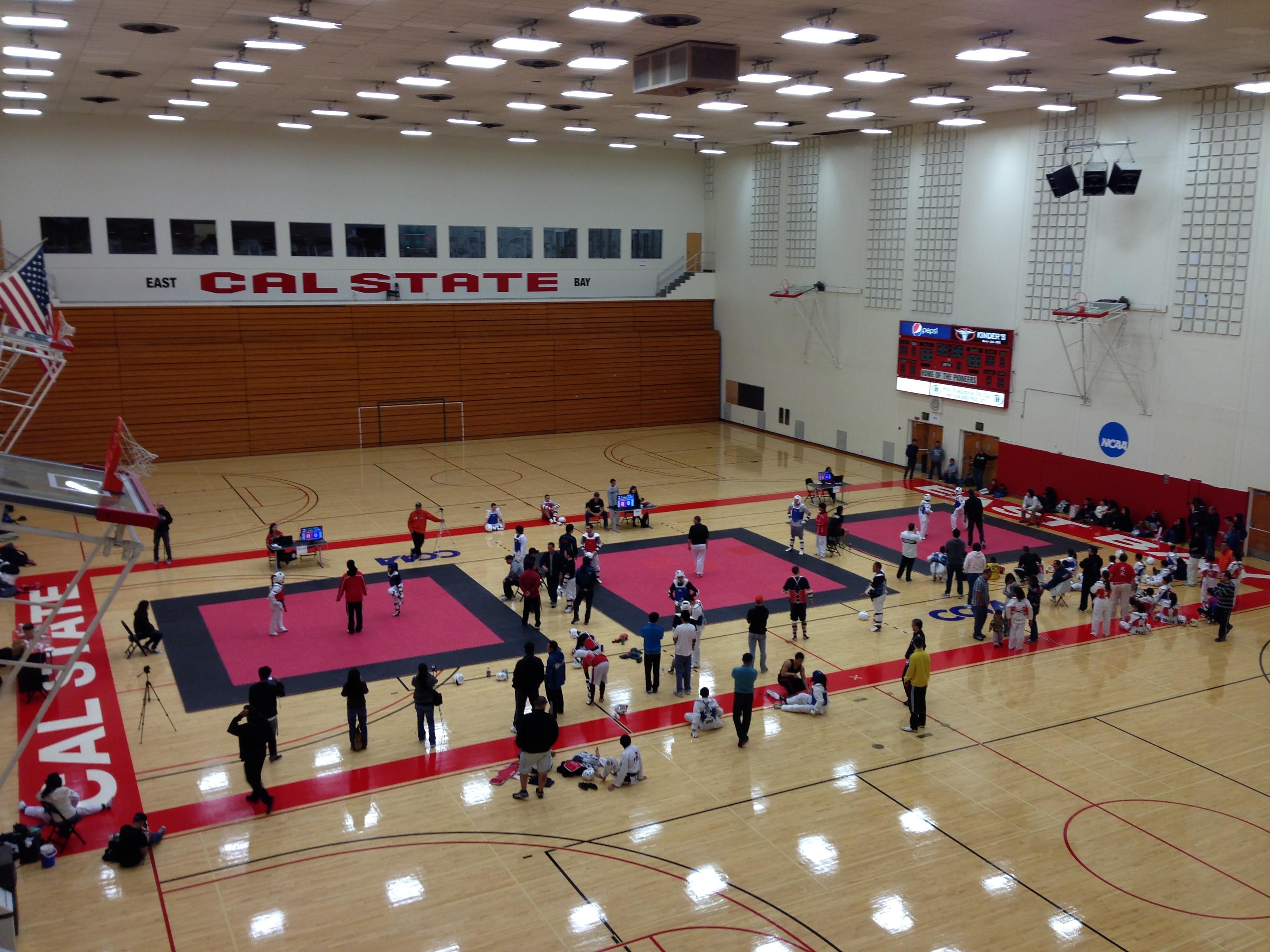 Csu east bay taekwondo for Cost to build a basketball gym